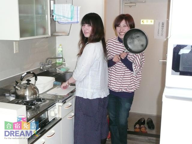 宿泊施設のキッチンの様子