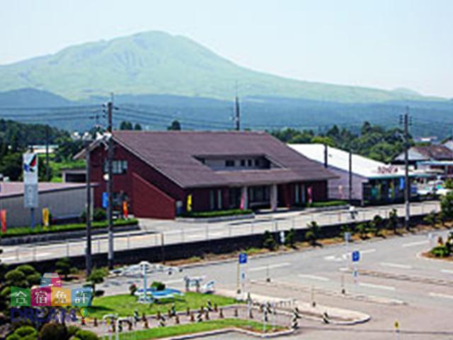 教習所から阿蘇山が見える
